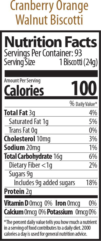 walnut cran nutrition