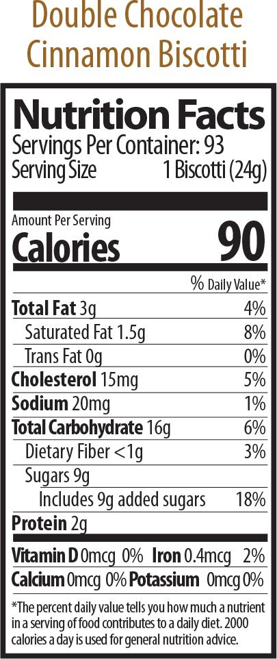 double choc prato nutrition