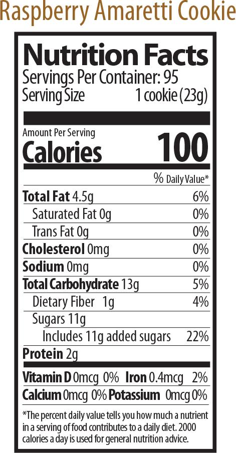 raspberry amaretti nutrition
