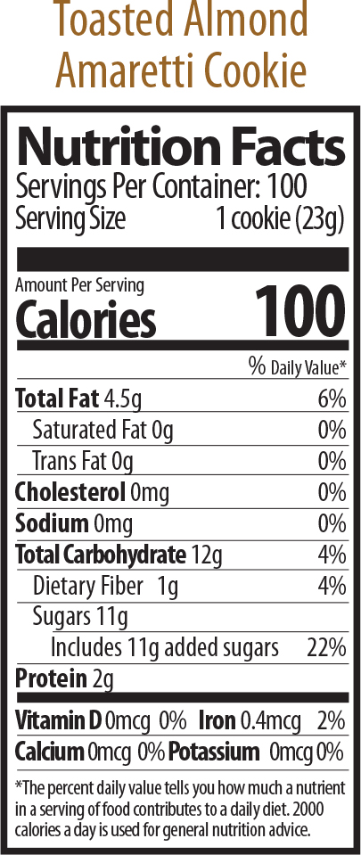 toasted amaretti nutrition