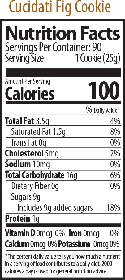 cucidati nutrition