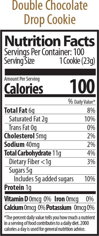 double choc drop nutrition