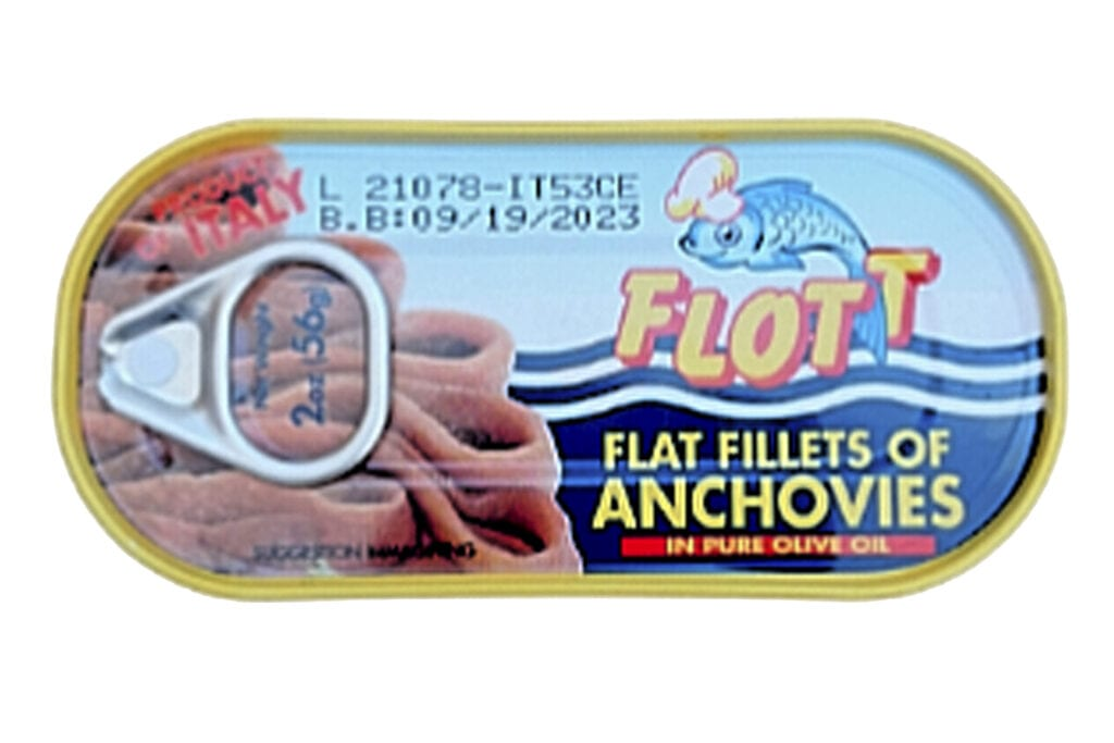Anchovy flat in Olive Oil