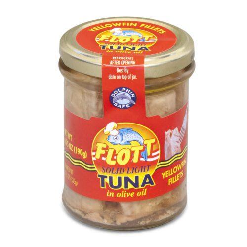 Tuna jar in olive oil